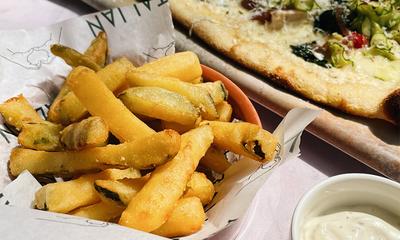 "<span class=""merchant-title"">ASK</span> | Free Zucchini Fritti When you Dine In"