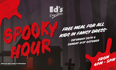 """<span class=""""merchant-title"""">Ed's Easy Diner</span>   Free Meal for Kids in Fancy Dress"""